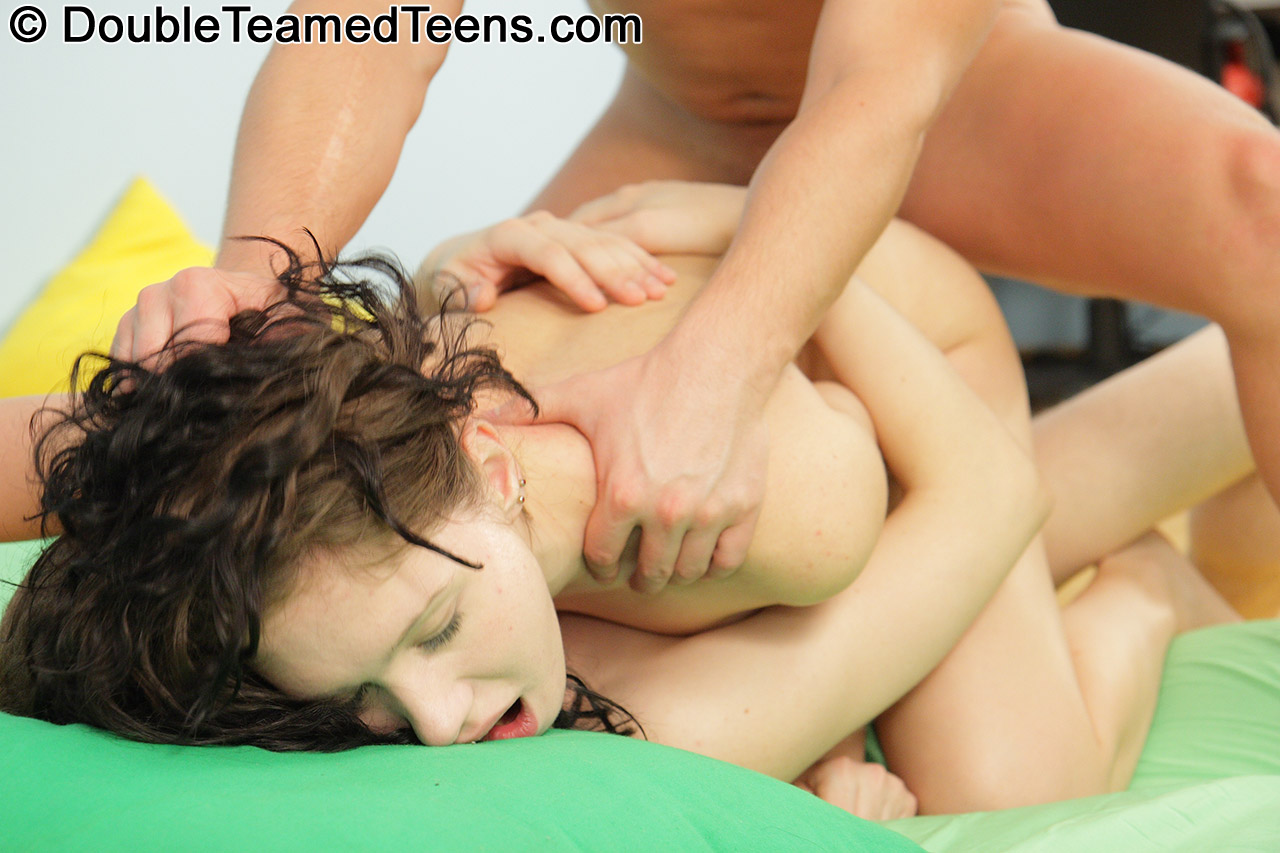 Teen all holes demolished by black cocks 3