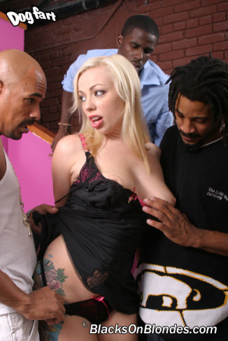 Blacks On Blondes: Adrianna Nichole - Interracial Anal Gangbang