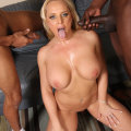 Blacks On Blondes: Alexis Golden - Interracial DP For Busty Slut