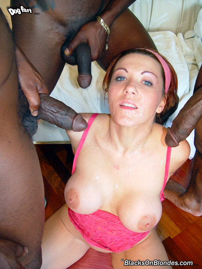 French Blonde Amateur Gangbang