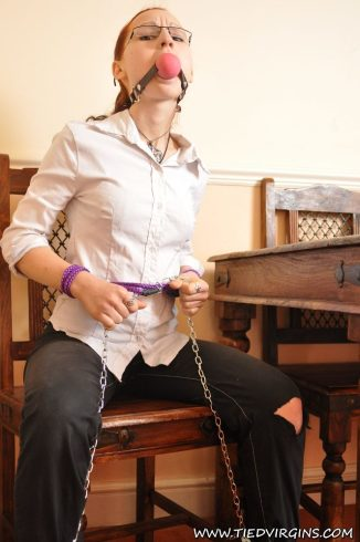 Tied Virgins: Bailey - Professional Girl With Glasses Gets Bound