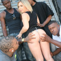 Blacks On Blondes: Allie Foster - Hardcore Interracial Gangbang