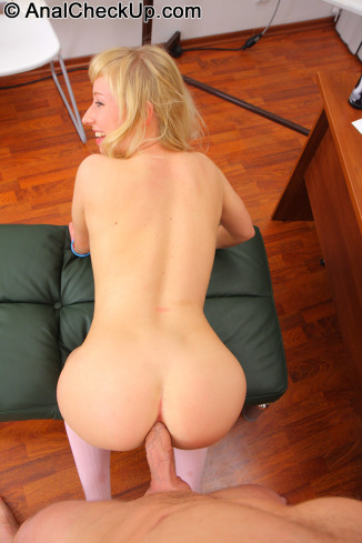 Anal Checkup: Nika - Having Fun With Barely Legal Blonde Schoolgirl's Ass