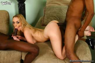 Blacks on Blondes: Annette Schwartz - Interracial Gangbang